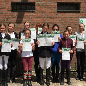 Reitabzeichen Prüfung im Juli 2016: Alle haben erfolgreich bestanden!!!