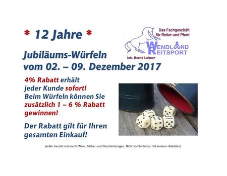 Würfel - Rabatt - Woche ab 02.Dezember 2017